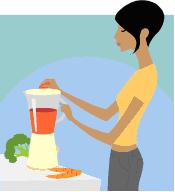 Image of smoothie blending, copyright Microsoft.