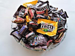 An image of candy in a bowl