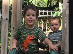 An image of my adorable grandsons, Josiah and Isaiah