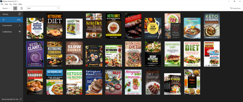 Image of Keto books in Library