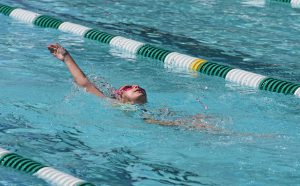 An image of a swimmer backstroking